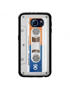 Coque White Cassette K7 pour Samsung Galaxy S6 Edge - Maximilian San