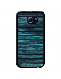 Coque Blue Moon Wood Bois pour Samsung Galaxy S6 Edge - Maximilian San