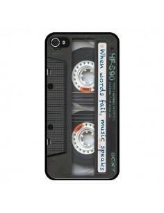 Coque Cassette Words K7 pour iPhone 4 et 4S - Maximilian San