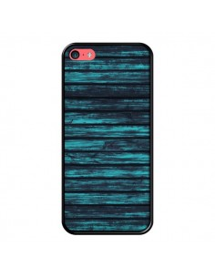 Coque Blue Moon Wood Bois pour iPhone 5C - Maximilian San