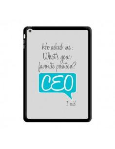 Coque What's your favorite position CEO I said, bleu pour iPad Air - Shop Gasoline