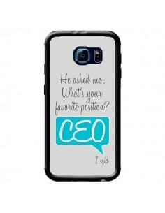 Coque What's your favorite position CEO I said, bleu pour Samsung Galaxy S6 - Shop Gasoline
