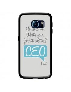 Coque What's your favorite position CEO I said, bleu pour Samsung Galaxy S6 Edge - Shop Gasoline