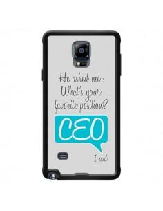 Coque What's your favorite position CEO I said, bleu pour Samsung Galaxy Note 4 - Shop Gasoline