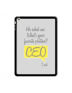Coque What's your favorite position CEO I said, jaune pour iPad Air - Shop Gasoline