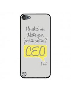 Coque What's your favorite position CEO I said, jaune pour iPod Touch 5 - Shop Gasoline