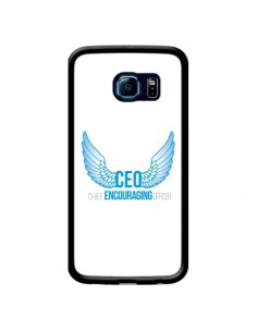 Coque CEO Chief Encouraging Officer Bleu pour Samsung Galaxy S6 Edge - Shop Gasoline