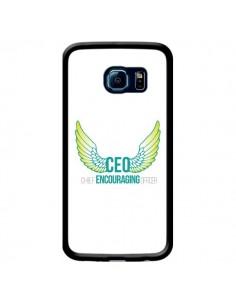 Coque CEO Chief Encouraging Officer Vert pour Samsung Galaxy S6 Edge - Shop Gasoline