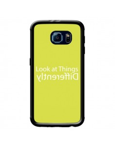 Coque Look at Different Things Yellow pour Samsung Galaxy S6 - Shop Gasoline