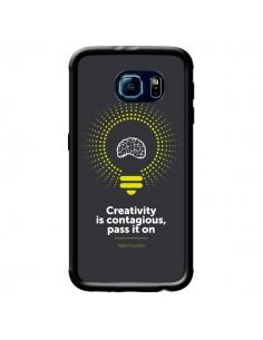 Coque Creativity is contagious, Einstein pour Samsung Galaxy S6 - Shop Gasoline