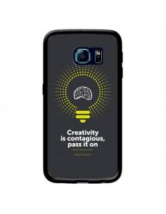 Coque Creativity is contagious, Einstein pour Samsung Galaxy S6 Edge - Shop Gasoline