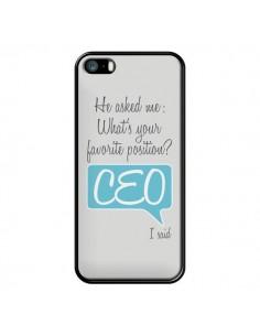 Coque What's your favorite position CEO I said, bleu pour iPhone 5/5S et SE - Shop Gasoline