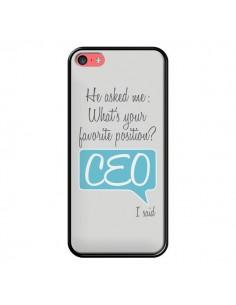 Coque What's your favorite position CEO I said, bleu pour iPhone 5C - Shop Gasoline