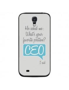 Coque What's your favorite position CEO I said, bleu pour Samsung Galaxy S4 - Shop Gasoline