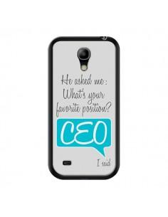 Coque What's your favorite position CEO I said, bleu pour Samsung Galaxy S4 Mini - Shop Gasoline
