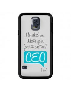 Coque What's your favorite position CEO I said, bleu pour Samsung Galaxy S5 - Shop Gasoline