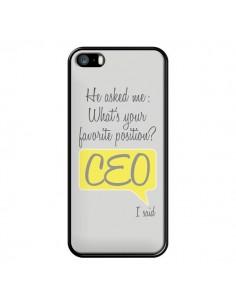 Coque iPhone 5/5S et SE What's your favorite position CEO I said, jaune - Shop Gasoline