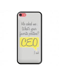 Coque iPhone 5C What's your favorite position CEO I said, jaune - Shop Gasoline