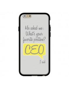 Coque iPhone 6 et 6S What's your favorite position CEO I said, jaune - Shop Gasoline