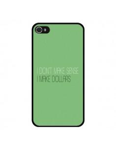 Coque I don't make sense, I make Dollars, vert pour iPhone 4 et 4S - Shop Gasoline