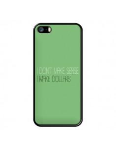 Coque iPhone 5/5S et SE I don't make sense, I make Dollars, vert - Shop Gasoline