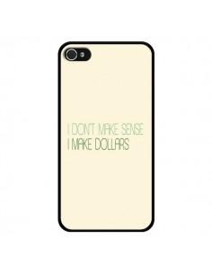 Coque iPhone 4 et 4S I don't make sense, I make Dollars, beige - Shop Gasoline