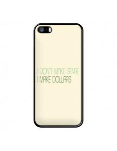Coque iPhone 5/5S et SE I don't make sense, I make Dollars, beige - Shop Gasoline