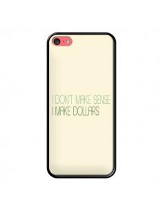 Coque iPhone 5C I don't make sense, I make Dollars, beige - Shop Gasoline