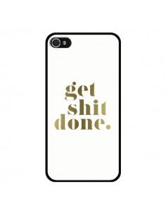 Coque Get Shit Done Doré pour iPhone 4 et 4S - Shop Gasoline