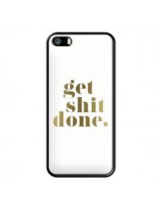 Coque iPhone 5/5S et SE Get Shit Done Doré - Shop Gasoline