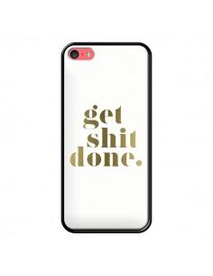 Coque Get Shit Done Doré pour iPhone 5C - Shop Gasoline