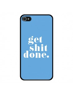 Coque iPhone 4 et 4S Get Shit Done Bleu - Shop Gasoline