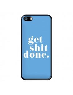 Coque iPhone 5/5S et SE Get Shit Done Bleu - Shop Gasoline
