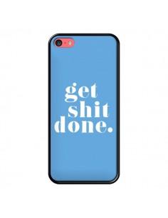 Coque iPhone 5C Get Shit Done Bleu - Shop Gasoline