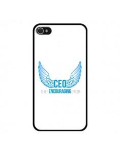 Coque CEO Chief Encouraging Officer Bleu pour iPhone 4 et 4S - Shop Gasoline