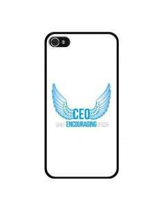 Coque iPhone 4 et 4S CEO Chief Encouraging Officer Bleu - Shop Gasoline