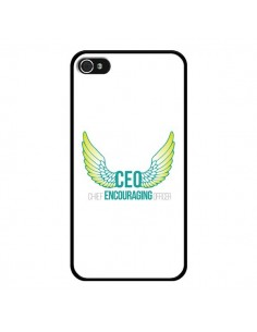 Coque iPhone 4 et 4S CEO Chief Encouraging Officer Vert - Shop Gasoline