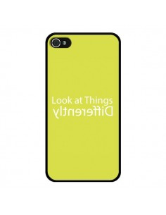 Coque iPhone 4 et 4S Look at Different Things Yellow - Shop Gasoline