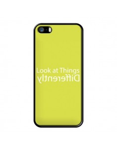 Coque iPhone 5/5S et SE Look at Different Things Yellow - Shop Gasoline