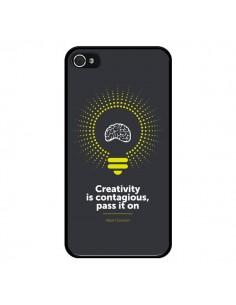 Coque iPhone 4 et 4S Creativity is contagious, Einstein - Shop Gasoline