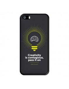 Coque iPhone 5/5S et SE Creativity is contagious, Einstein - Shop Gasoline