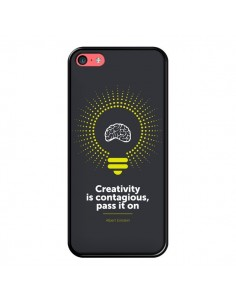 Coque Creativity is contagious, Einstein pour iPhone 5C - Shop Gasoline