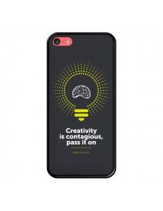 Coque iPhone 5C Creativity is contagious, Einstein - Shop Gasoline