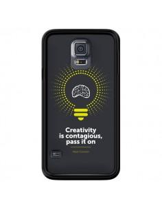 Coque Creativity is contagious, Einstein pour Samsung Galaxy S5 - Shop Gasoline
