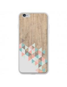 Coque iPhone 6 Plus et 6S Plus Wood Bois Azteque Triangles Archiwoo - Pura Vida
