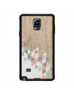 Coque Wood Bois Azteque Triangles Archiwoo pour Samsung Galaxy Note 4 - Pura Vida