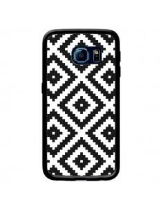 Coque Diamond Chevron Black and White pour Samsung Galaxy S6 Edge - Pura Vida