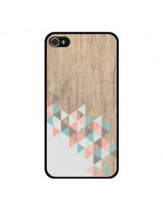 Coque iPhone 4 et 4S Wood Bois Azteque Triangles Archiwoo - Pura Vida