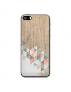 Coque iPhone 5/5S et SE Wood Bois Azteque Triangles Archiwoo - Pura Vida