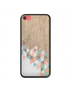 Coque iPhone 5C Wood Bois Azteque Triangles Archiwoo - Pura Vida